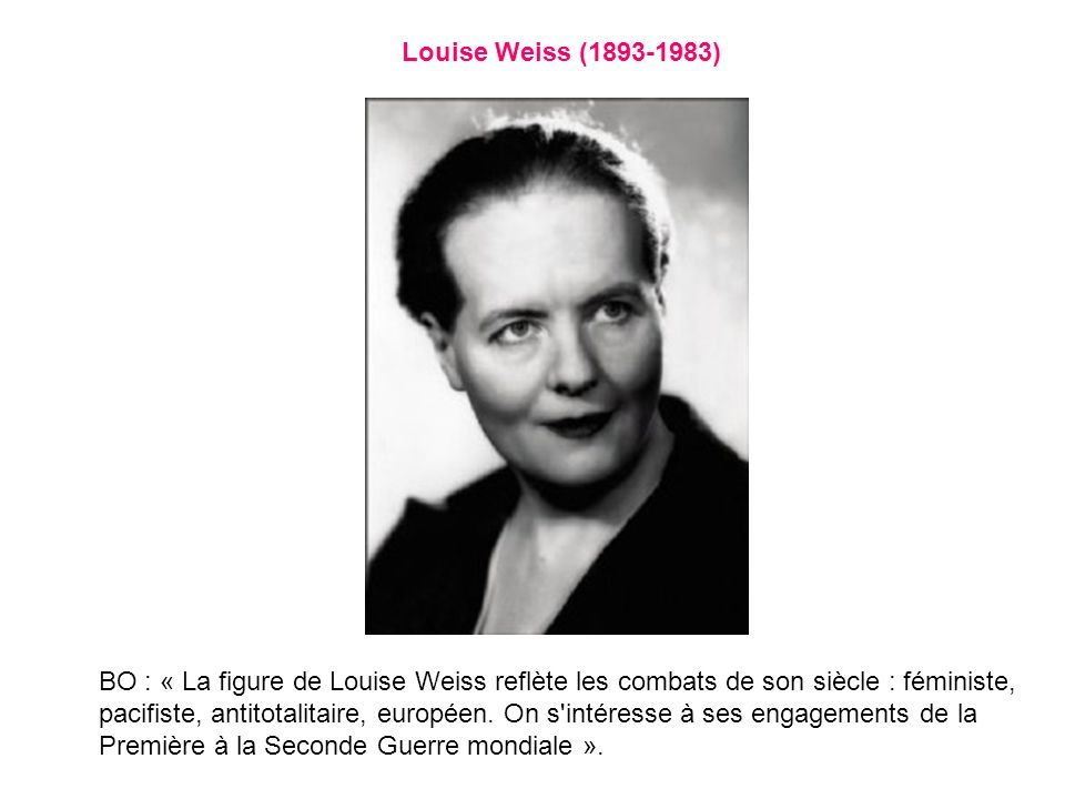 Louise Weiss (1893-1983)