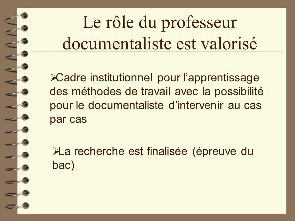 Le rôle du professeur documentaliste est valorisé