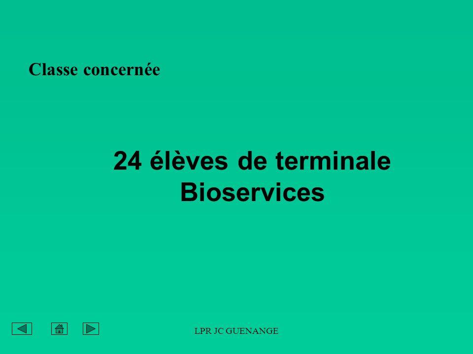 24 élèves de terminale Bioservices