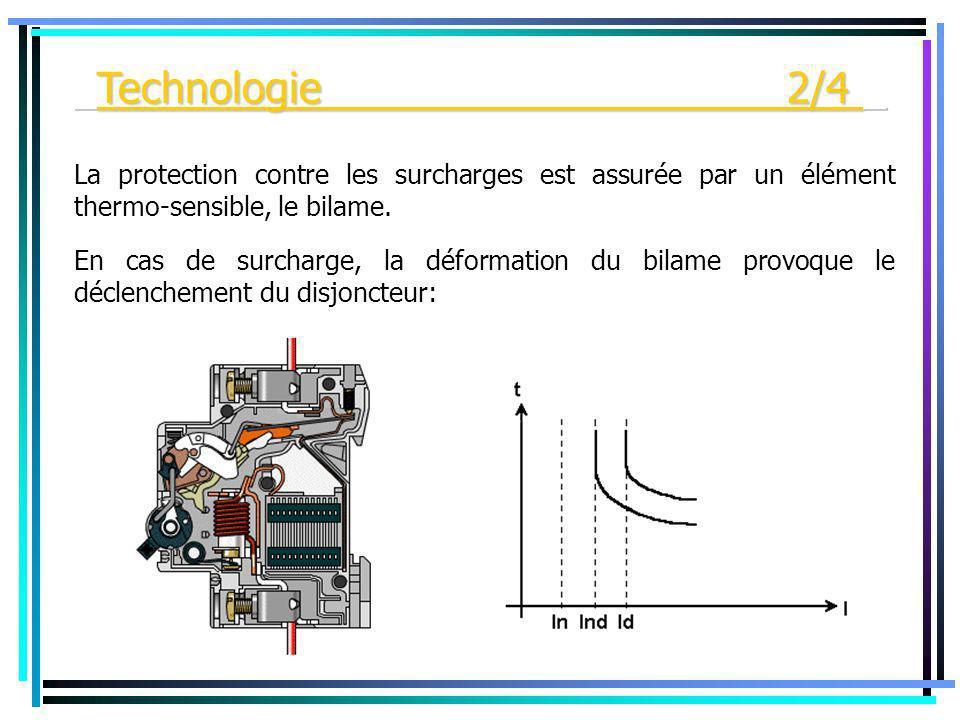 _Technologie 2/4 _ La protection contre les surcharges est assurée par un élément thermo-sensible, le bilame.