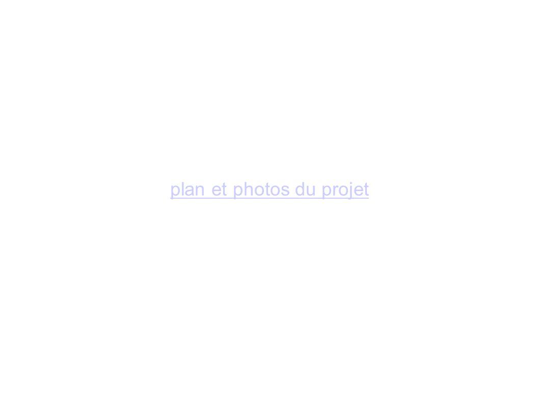 plan et photos du projet