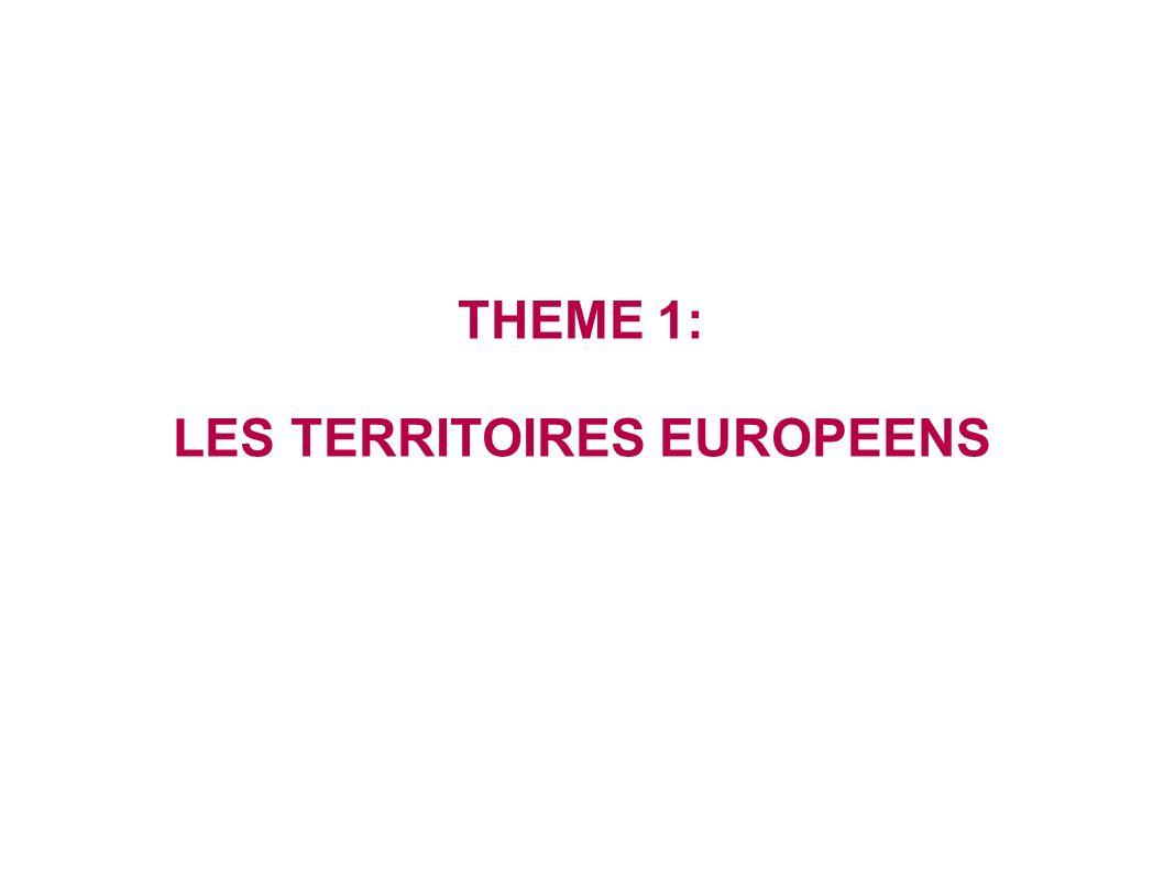LES TERRITOIRES EUROPEENS