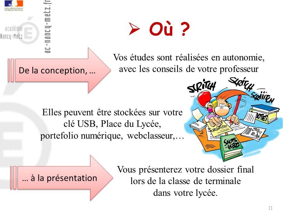  Où De la conception, … Vos études sont réalisées en autonomie, avec les conseils de votre professeur.