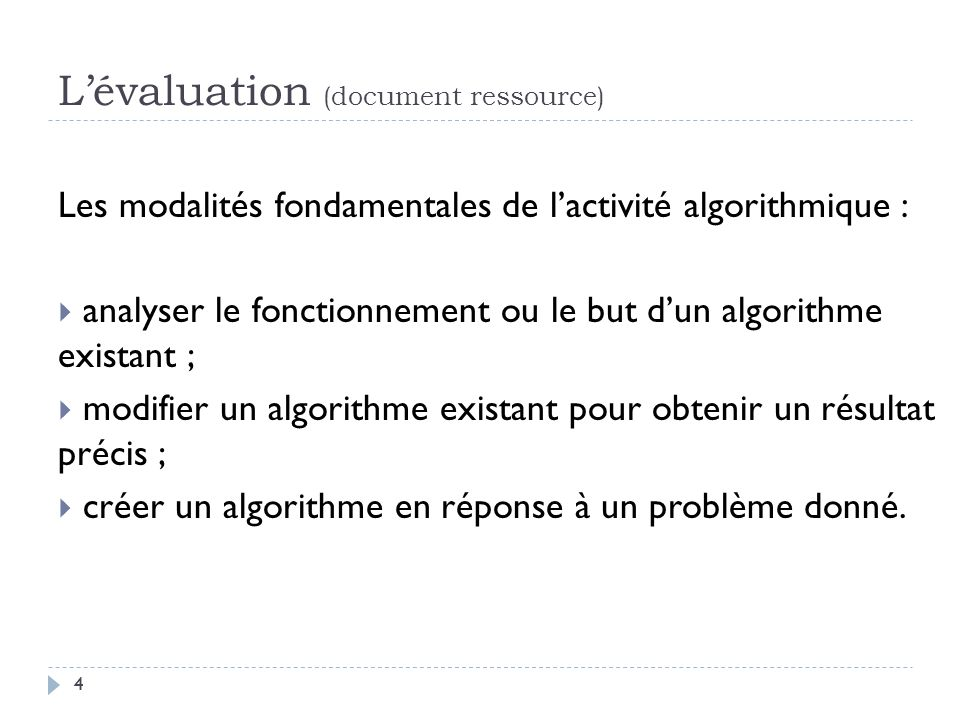L'évaluation (document ressource)