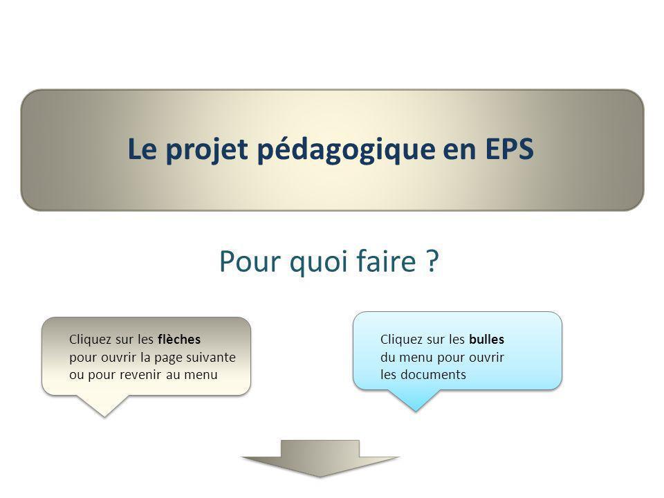 Le projet pédagogique en EPS