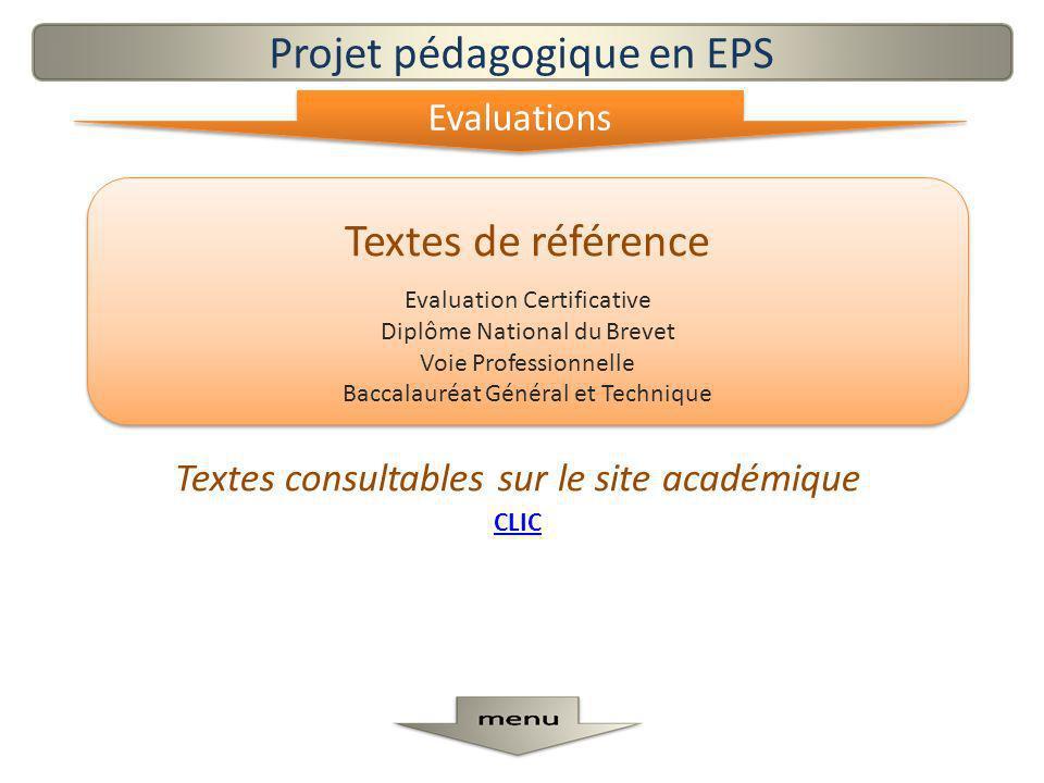 Projet pédagogique en EPS