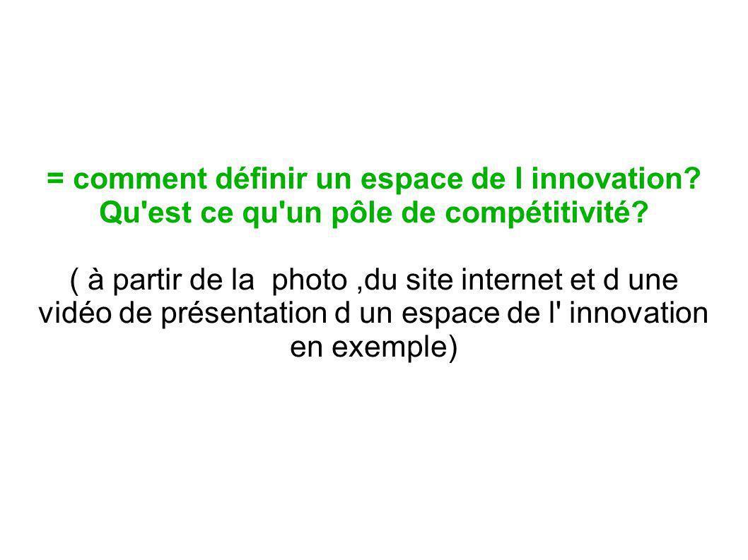 = comment définir un espace de l innovation