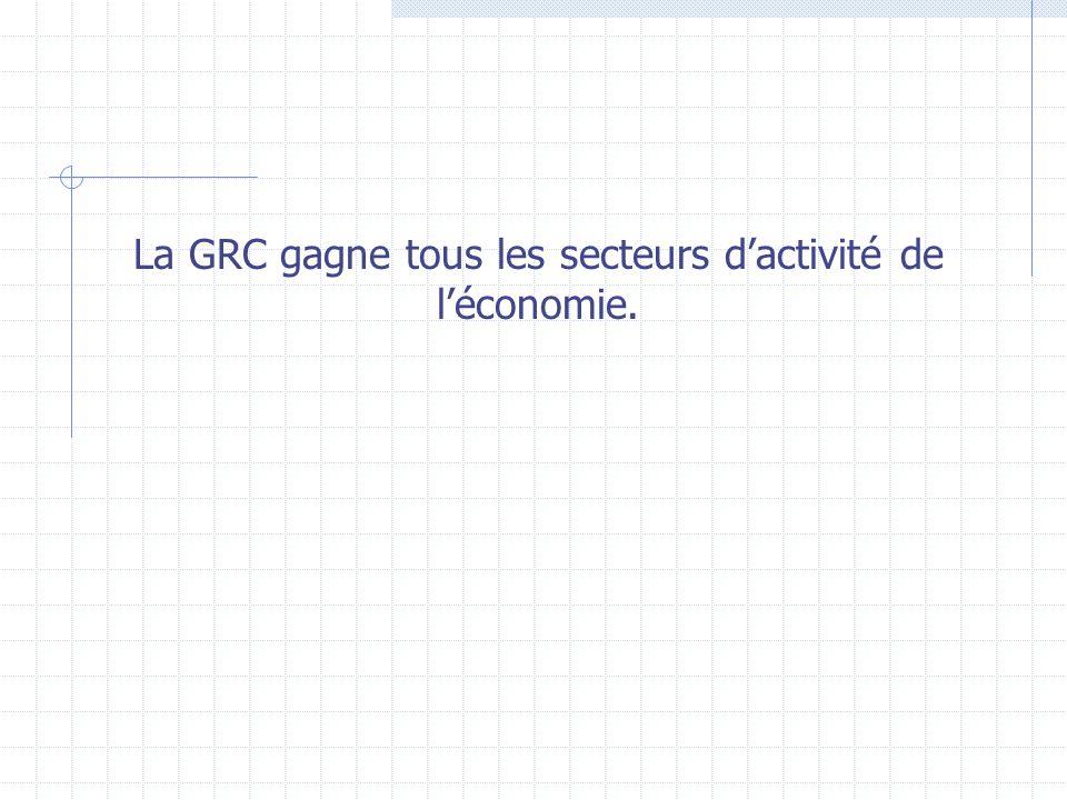 La GRC gagne tous les secteurs d'activité de l'économie.