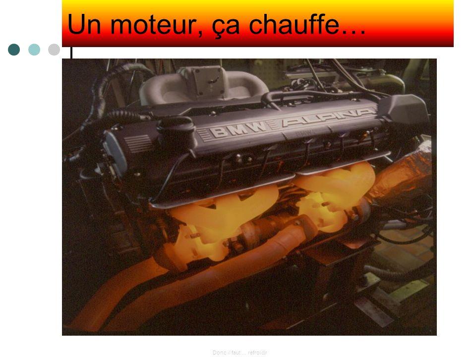 Un moteur, ça chauffe… Donc il faut … refroidir
