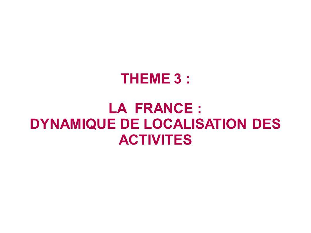 DYNAMIQUE DE LOCALISATION DES ACTIVITES