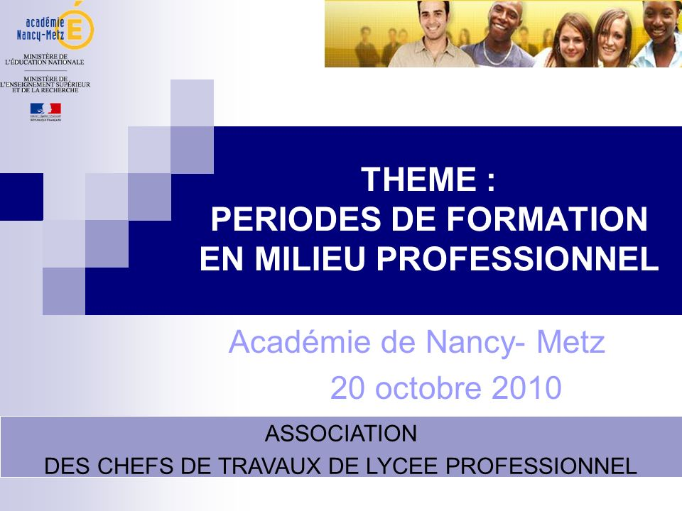 THEME : PERIODES DE FORMATION EN MILIEU PROFESSIONNEL