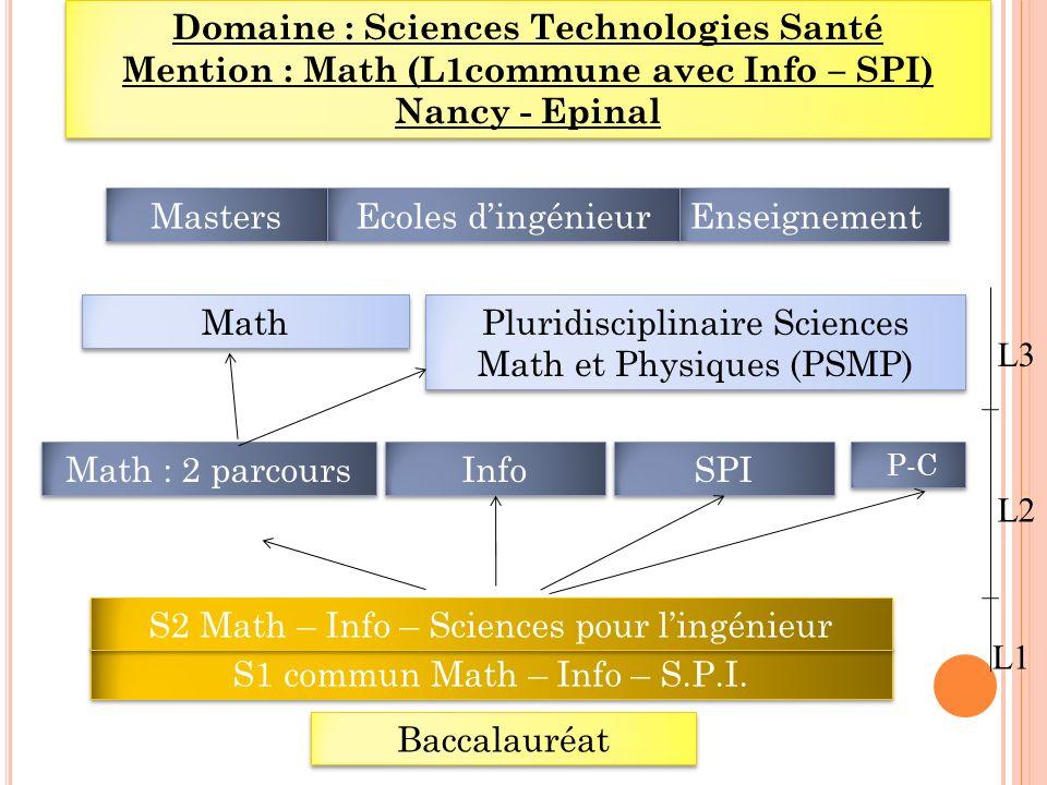 Domaine : Sciences Technologies Santé