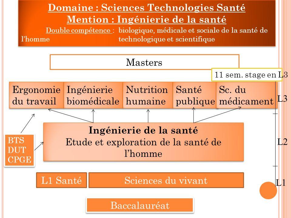 Domaine : Sciences Technologies Santé Mention : Ingénierie de la santé