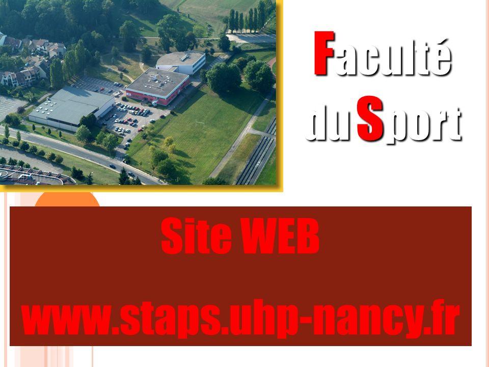 Faculté du Sport Site WEB