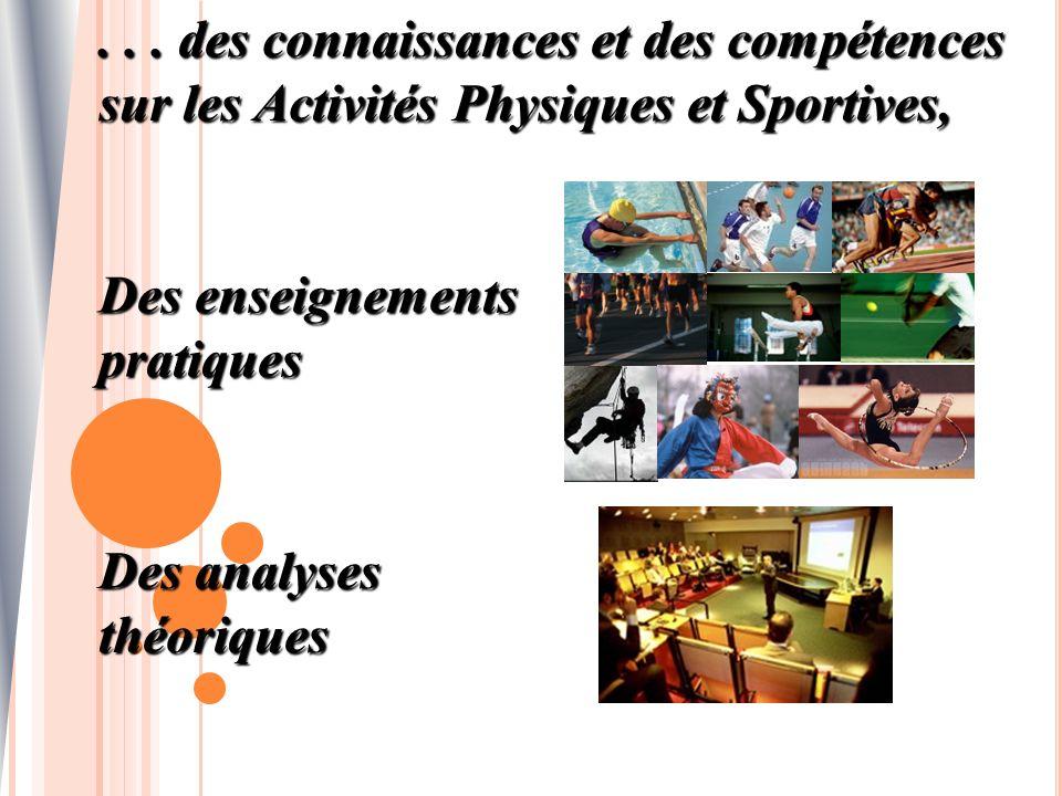 . . . des connaissances et des compétences sur les Activités Physiques et Sportives,