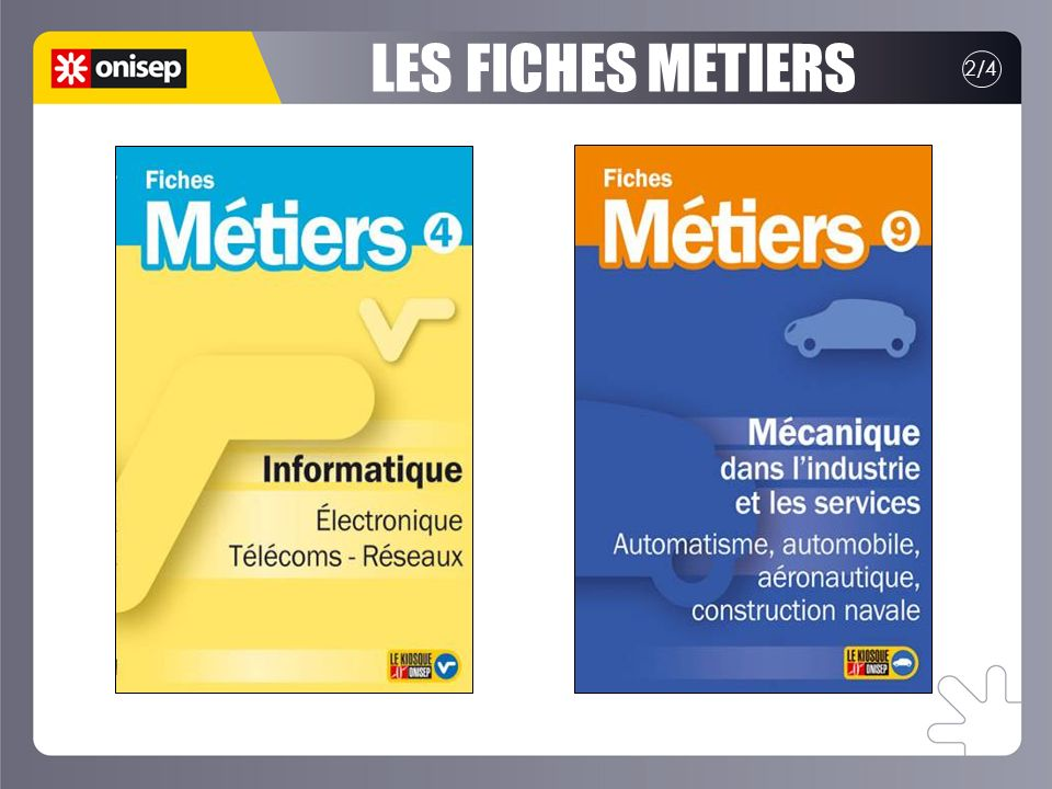 LES FICHES METIERS 2/4