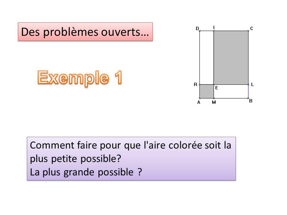 Exemple 1 Des problèmes ouverts…
