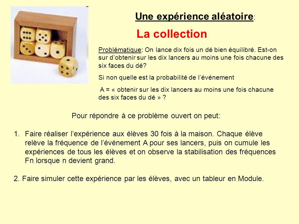 La collection Une expérience aléatoire: