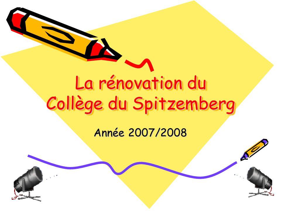 La rénovation du Collège du Spitzemberg