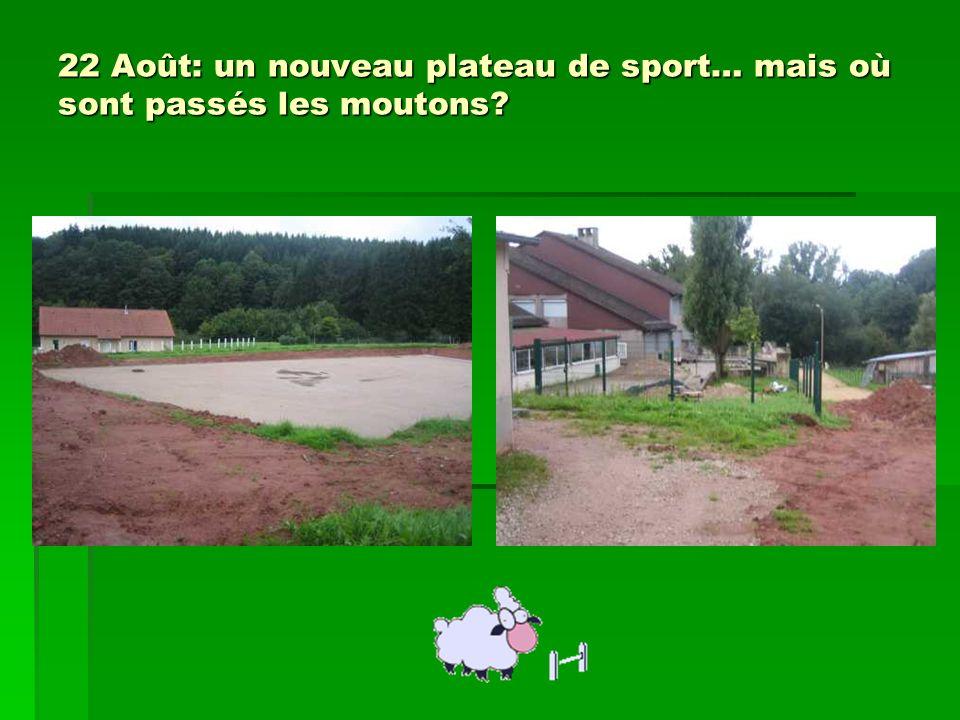 22 Août: un nouveau plateau de sport… mais où sont passés les moutons