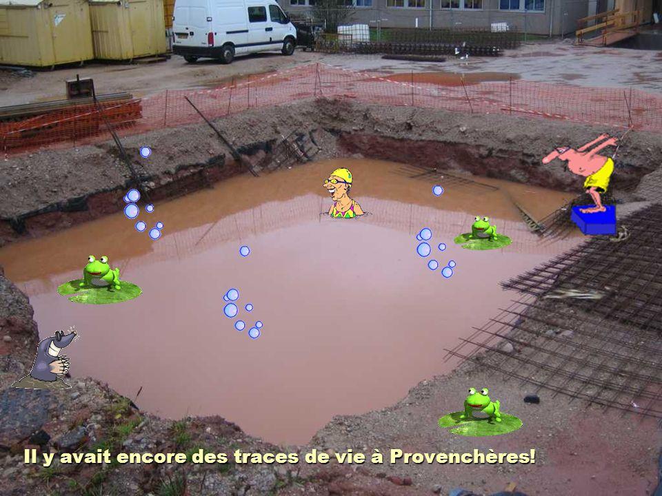 Il y avait encore des traces de vie à Provenchères!