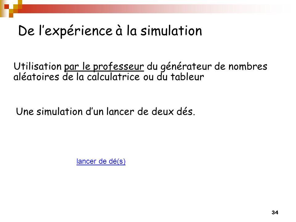 De l'expérience à la simulation