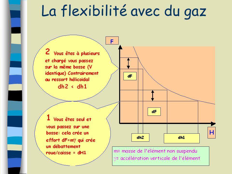 La flexibilité avec du gaz