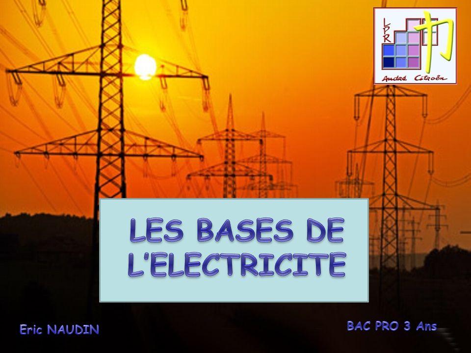 LES BASES DE L'ELECTRICITE