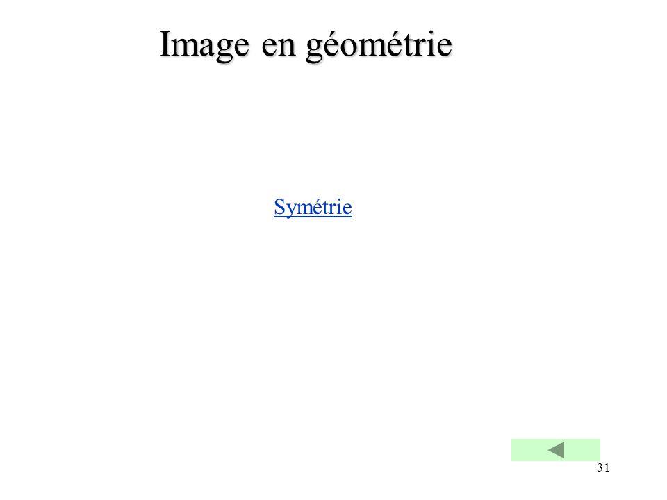 Image en géométrie Symétrie