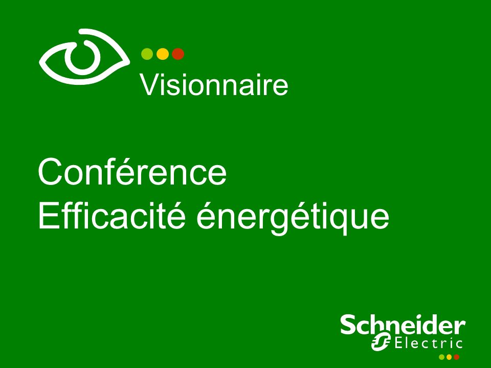 Conférence Efficacité énergétique