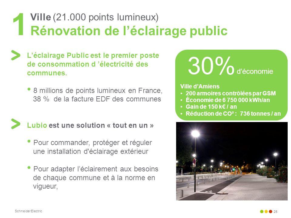 Ville (21.000 points lumineux) Rénovation de l'éclairage public
