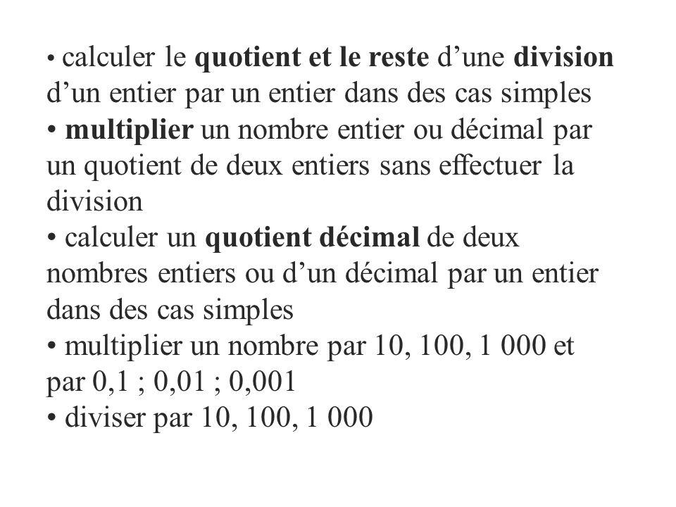 multiplier un nombre par 10, 100, 1 000 et par 0,1 ; 0,01 ; 0,001