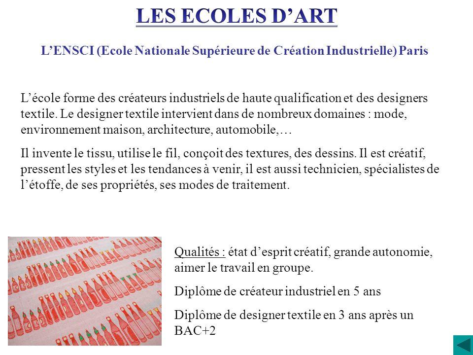 L'ENSCI (Ecole Nationale Supérieure de Création Industrielle) Paris