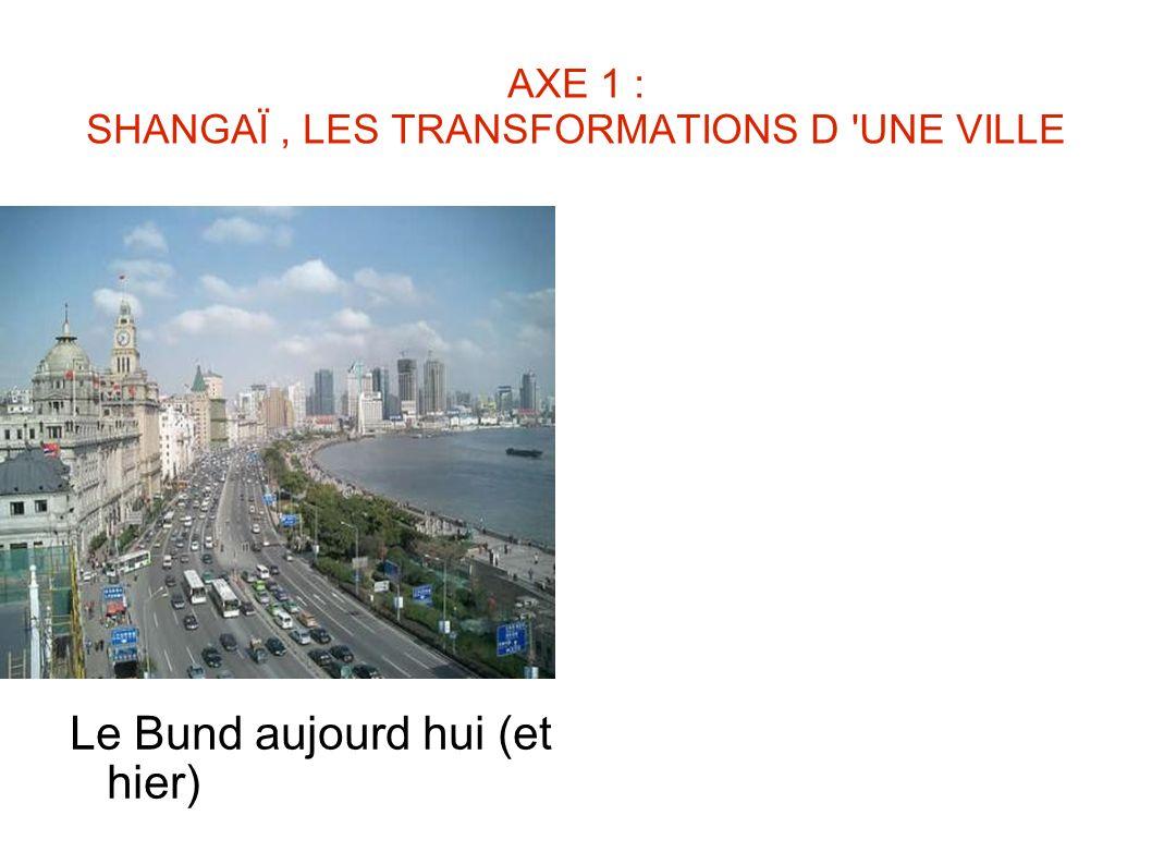 AXE 1 : SHANGAÏ , LES TRANSFORMATIONS D UNE VILLE