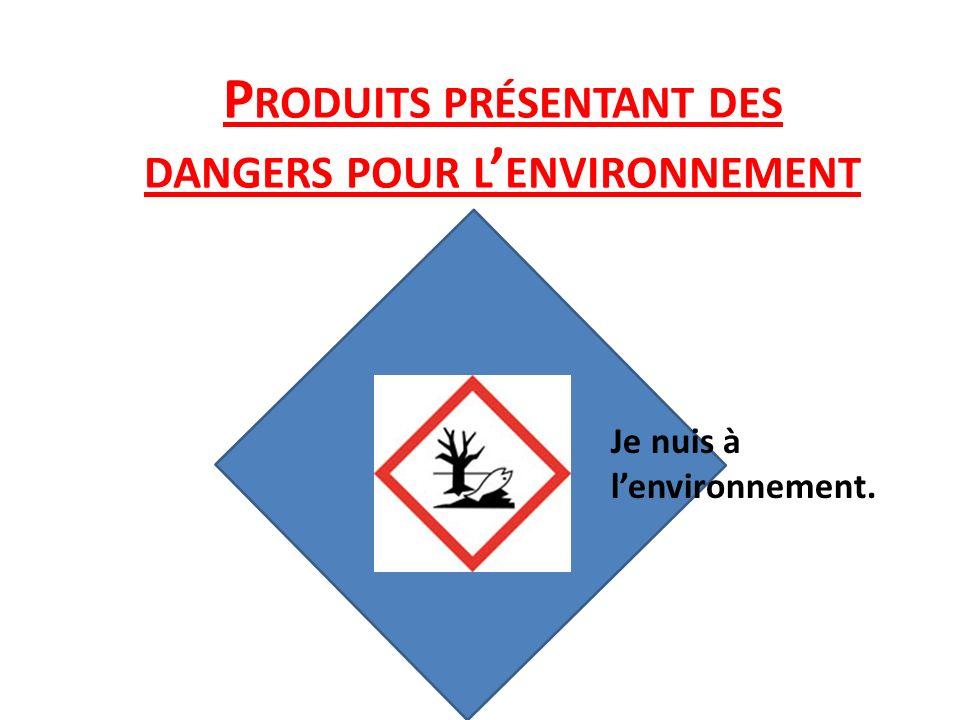 Produits présentant des dangers pour l'environnement
