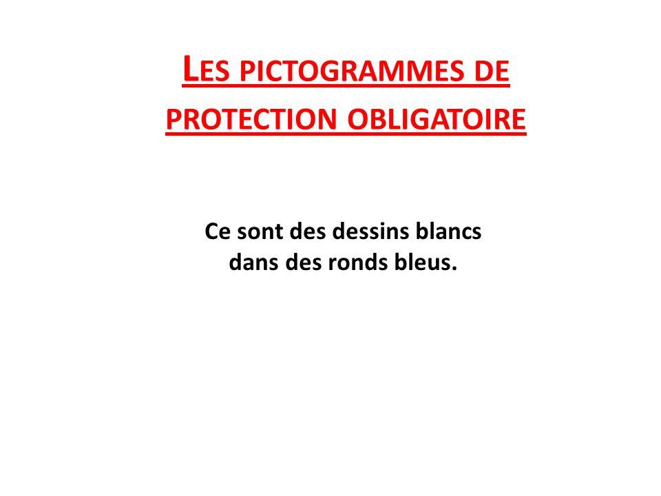 Les pictogrammes de protection obligatoire