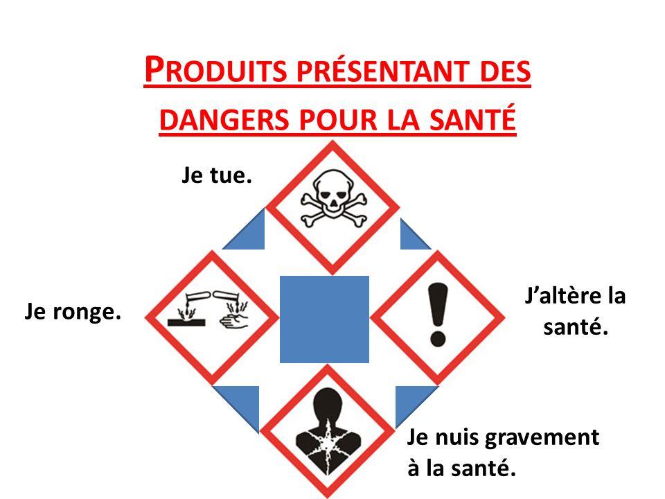Produits présentant des dangers pour la santé