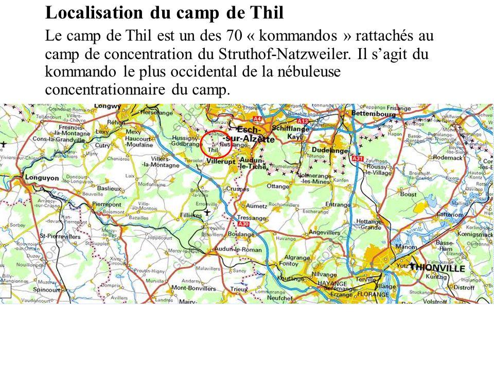Localisation du camp de Thil