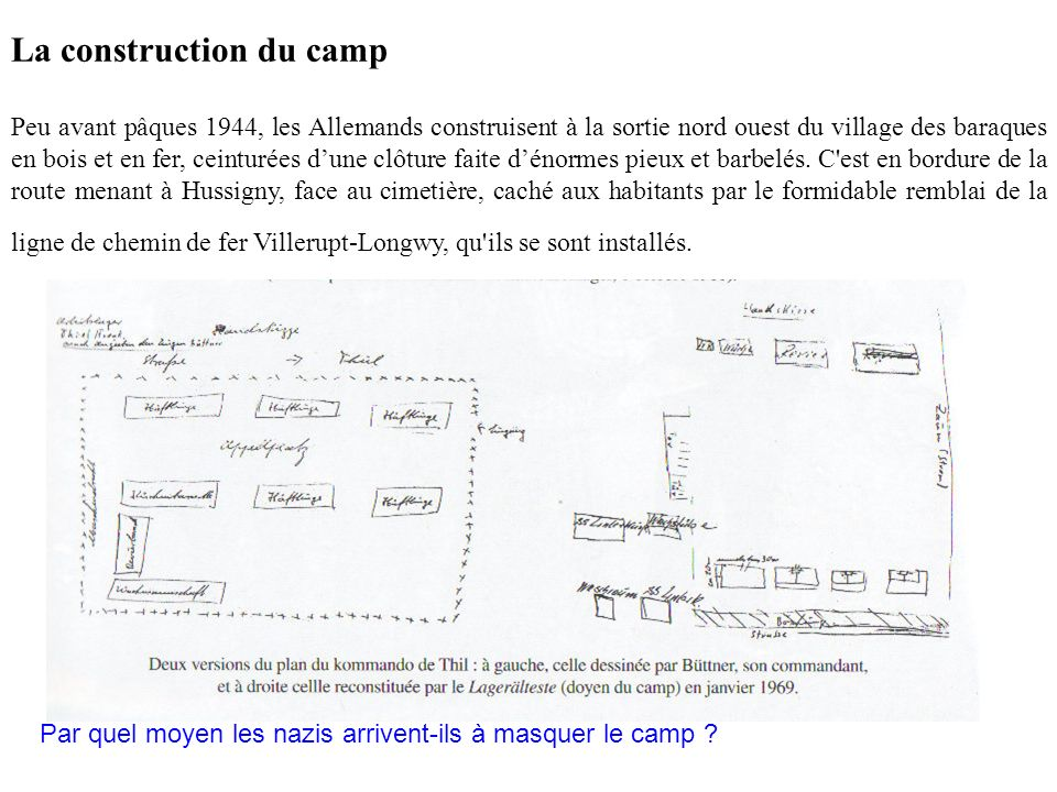 La construction du camp