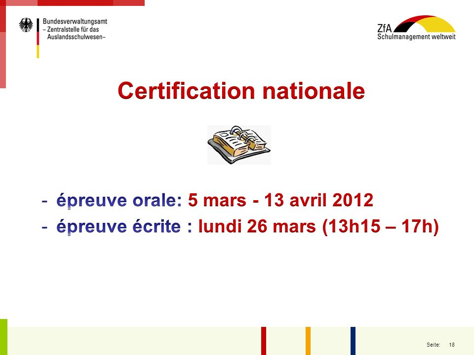 Certification nationale