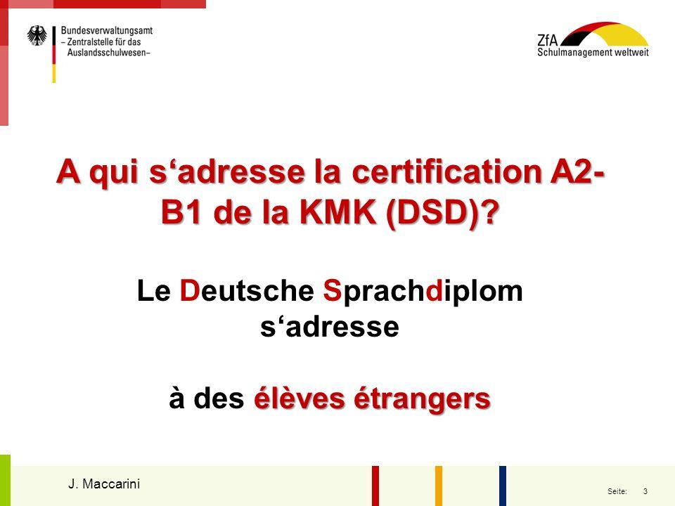 A qui s'adresse la certification A2-B1 de la KMK (DSD)