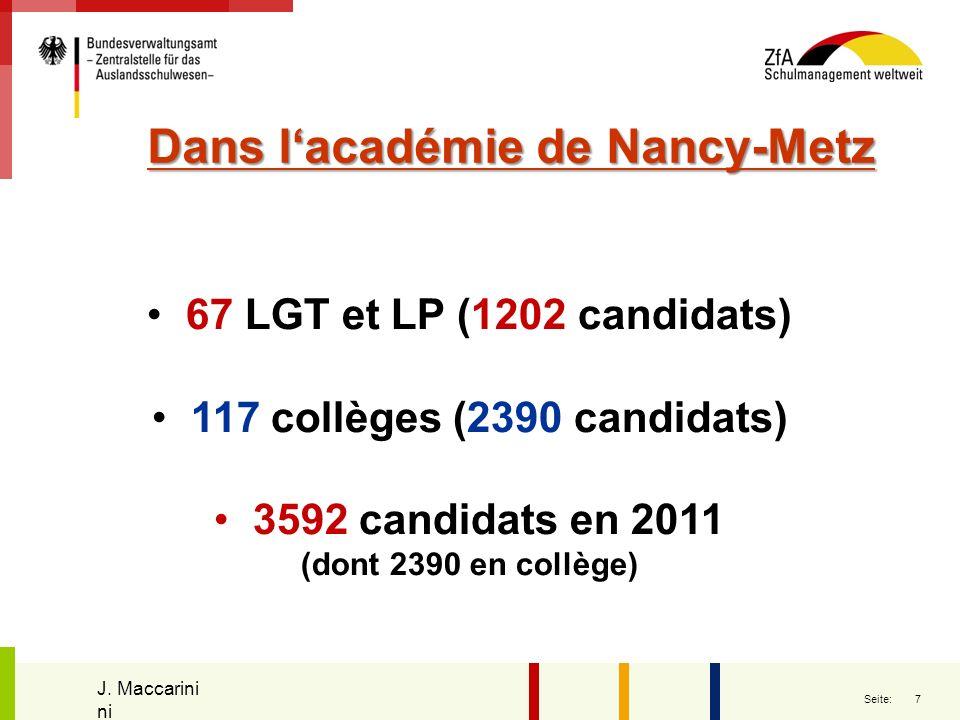 Dans l'académie de Nancy-Metz