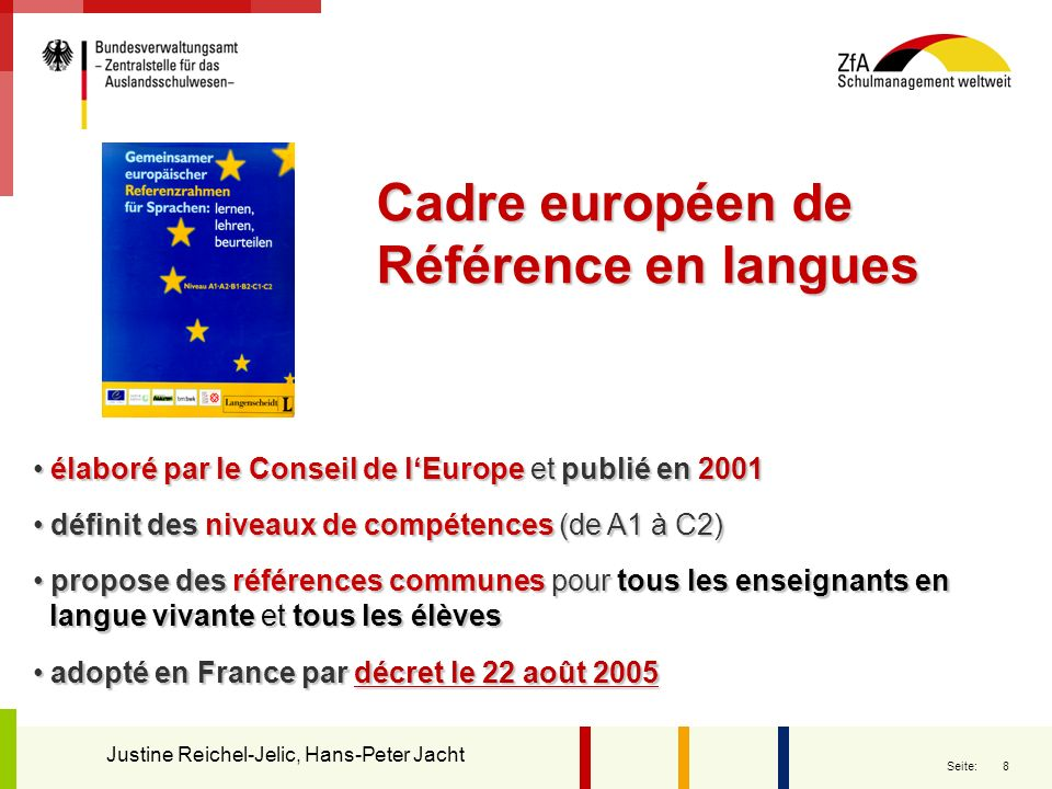 Cadre européen de Référence en langues