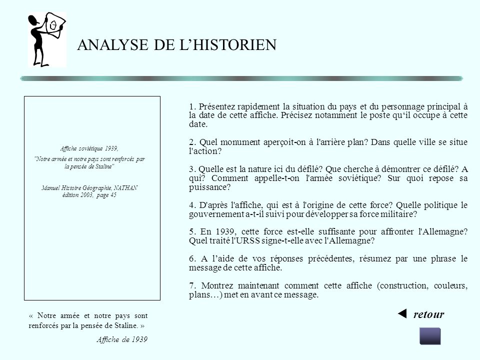 ANALYSE DE L'HISTORIEN