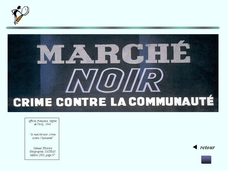  retour Affiche française, régine de Vichy, 1943