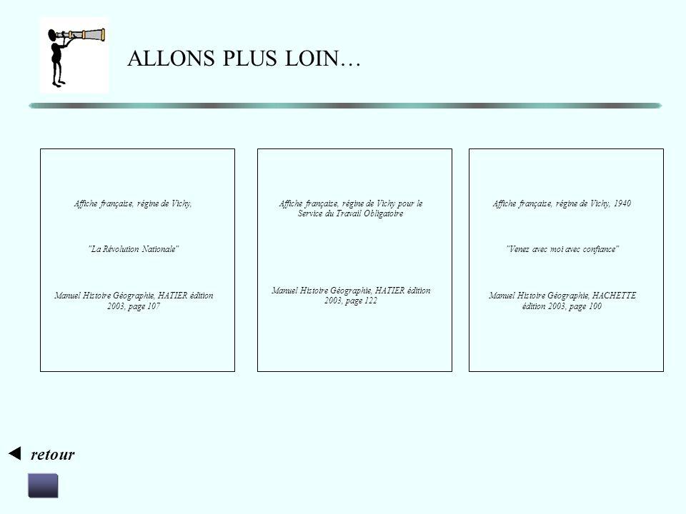 ALLONS PLUS LOIN…  retour Affiche française, régine de Vichy,