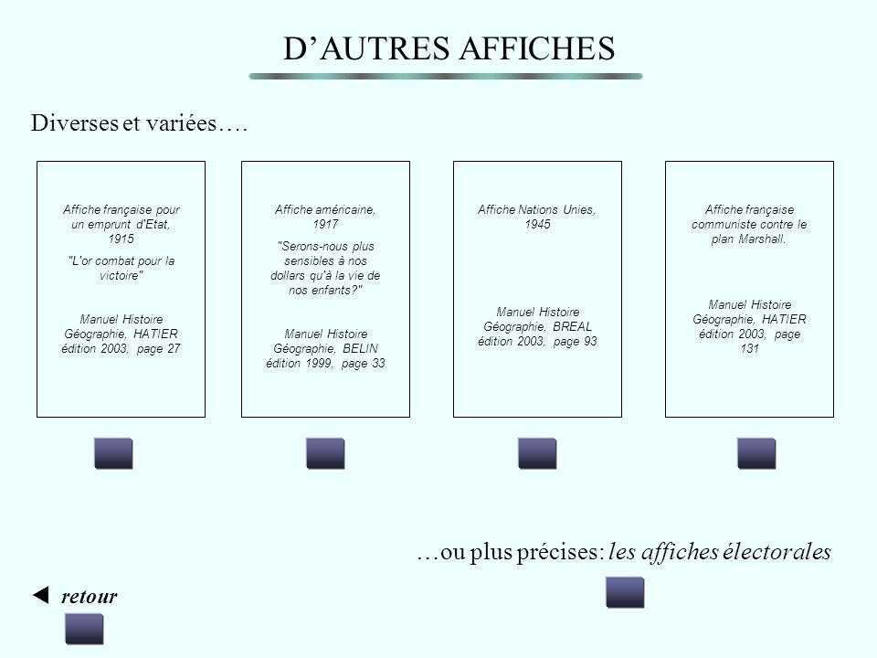 D'AUTRES AFFICHES Diverses et variées….