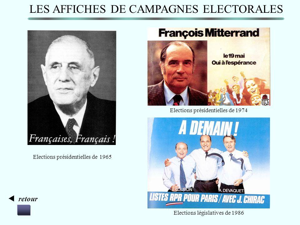 LES AFFICHES DE CAMPAGNES ELECTORALES