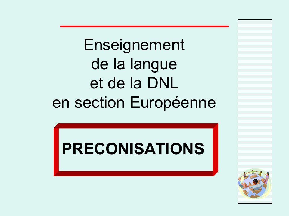 Enseignement de la langue et de la DNL en section Européenne