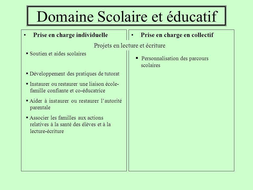 Domaine Scolaire et éducatif